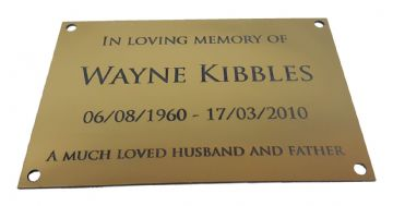 Memorial Plaque - Brushed Gold Metallic Effect Acrylic - Engrave With Your Text